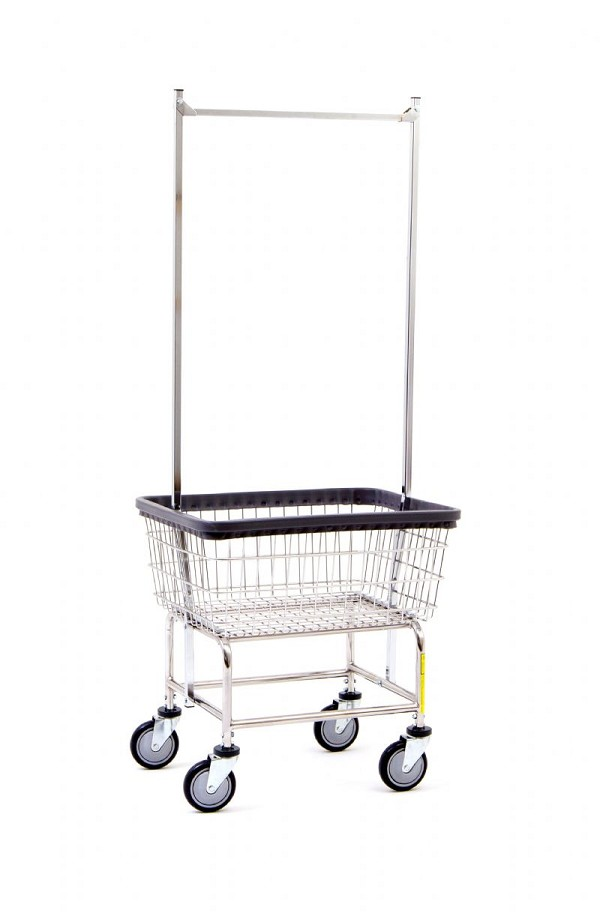 Narrow Laundry Carts With Non Marking Bumpers