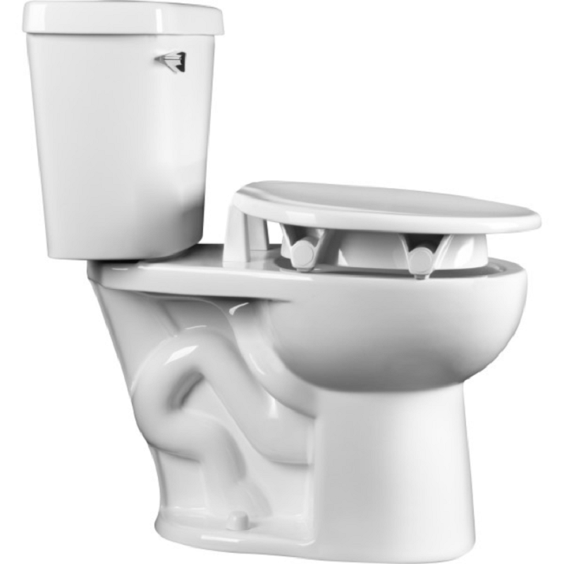 Clean Shield Elevated Toilet Seat By Bemis Support Arms