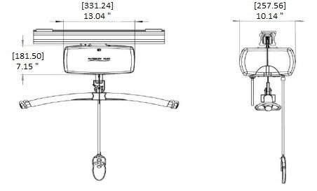 C-800 Fixed Ceiling Bariatric Patient Lift System