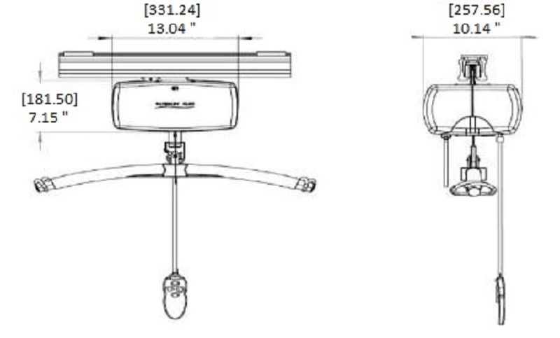 Handicare C-800 lb Capacity Fixed Ceiling Bariatric