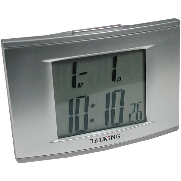 talking 4 alarm clock with el backlight talking clocks. Black Bedroom Furniture Sets. Home Design Ideas