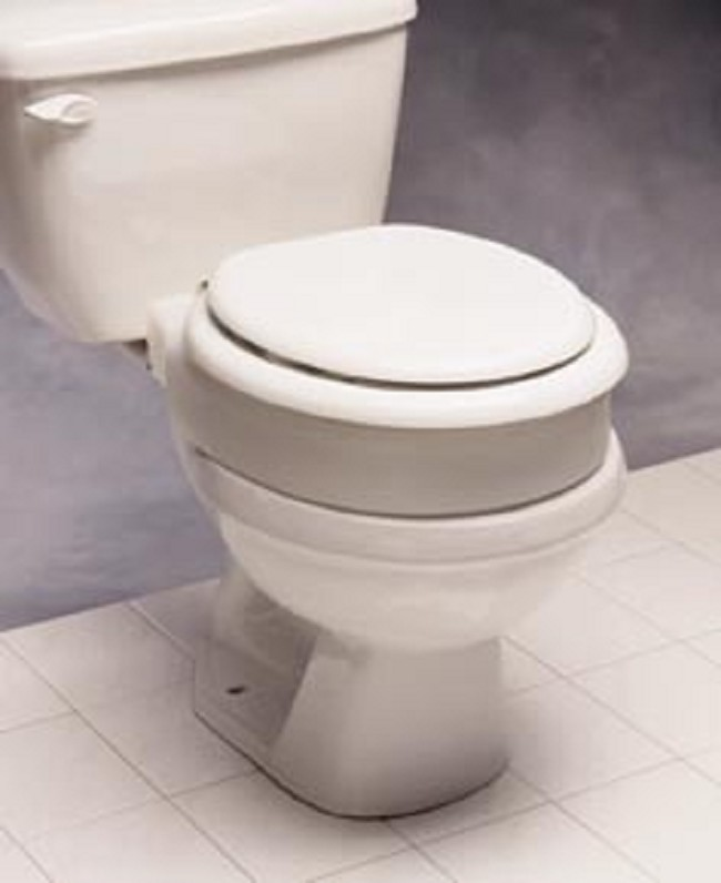 wide hinge toilet seat. Elongated Hinged Elevated Toilet Seat  FREE Shipping