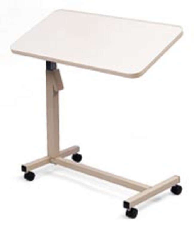 tilting arjo table bed prod casters on overbed hospital product adjustable height