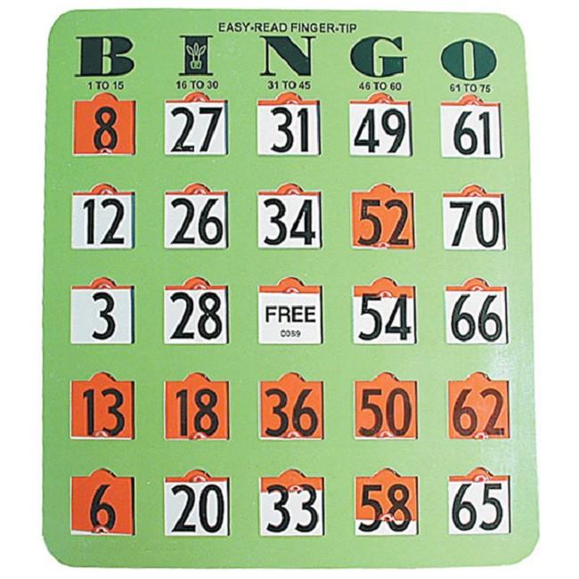 Easy Read Finger-Tip Bingo Cards