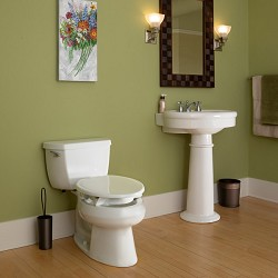 Clean Shield Elevated Toilet Seat by BEMIS (Support Arms optional)