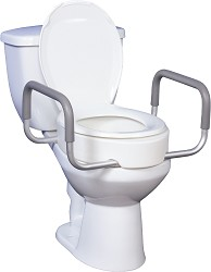 Drive Medical Premium Toilet Seat Riser with Removable Arms