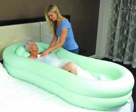 Ez Bathe Inflatable Bed Bath Personal Hygiene