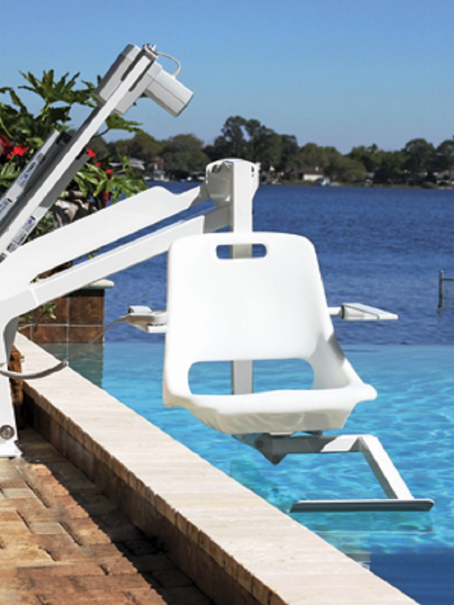 Independence 350lb Bariatric Pool Lift with Anchor