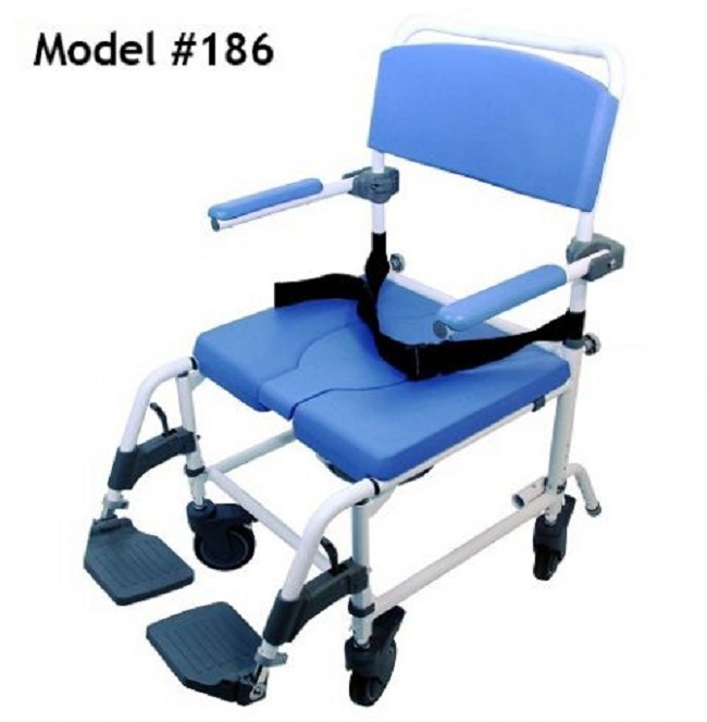 Aluminum 22 Inch Shower Commode Chair