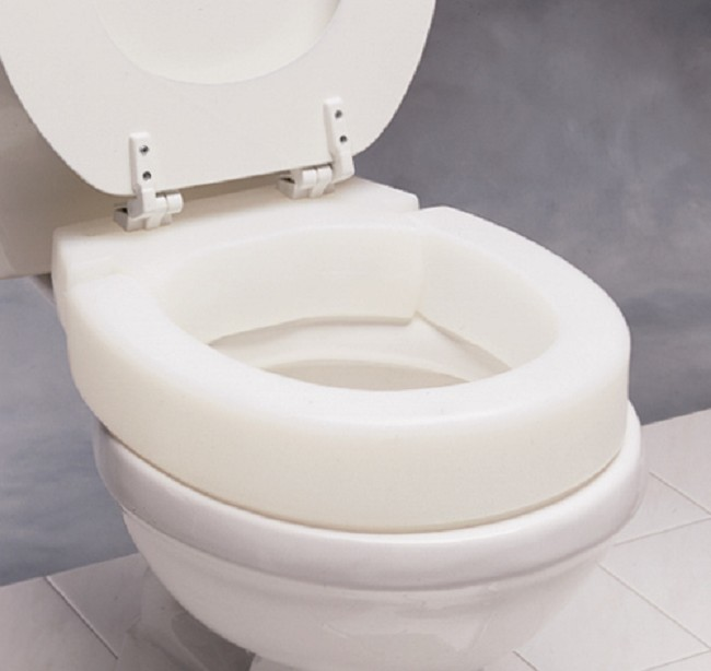 Elongated Hinged Elevated Toilet Seat Free Shipping