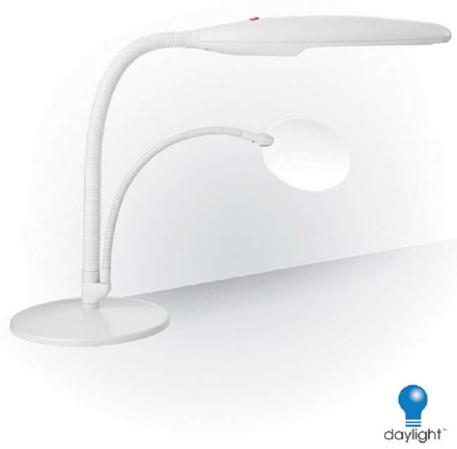 Swan rimless magnifying led table lamp with flexible arm daylight swan rimless magnifying led table lamp with flexible arm mozeypictures Gallery