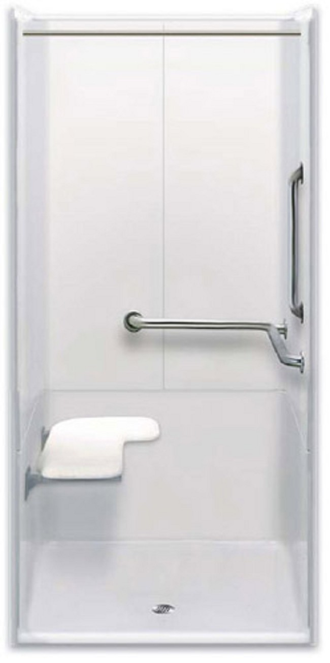 Ada bathroom accessories - Three Piece 40 X 39 Ada Transfer Shower
