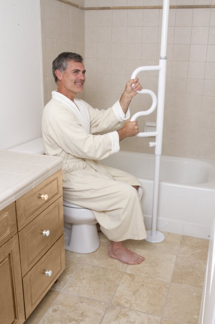 Security Pole And Curve Grab Bar Free Shipping