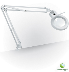 Daylight Ultra Slim Led Magnifying Lamp With Table Clamp For Low Vision Crafters And Artists
