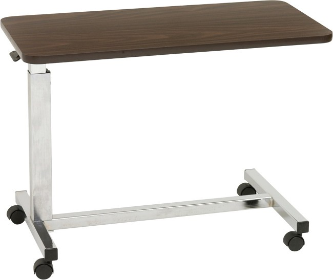 Low Height Hospital Bed Overbed Table Tray