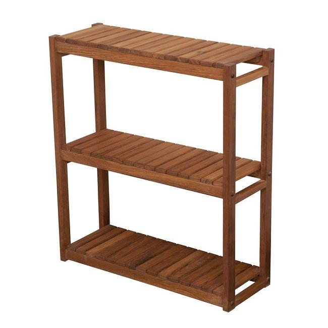 Teak Bathroom Shelves - FREE Shipping