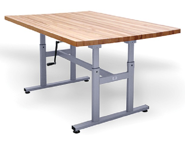 Hausmann Deluxe Crank Butcher Block Work Table for OTs