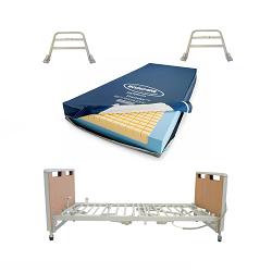 Invacare Etude Electric Hospital Bed, Softform Premier Mattress, & Side Rails Bundle (Includes ETUDE-HC + IPM1080+ ESR-2478)