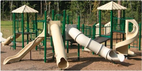 Thomas Play Fort Playground Equipment with Tube Slides