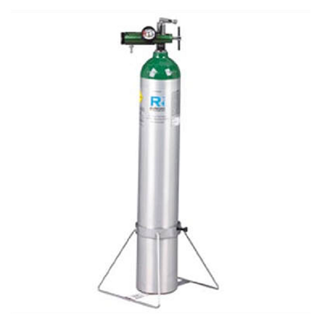 Single Oxygen Tank Cylinder Stands by Responsive Respiratory