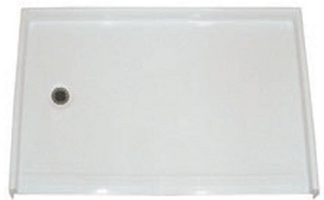 Barrier Free 54 in. x 36 7/8 in. Shower Pan with Low Threshold