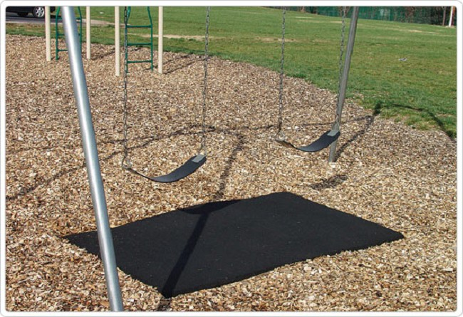 Playground Swing Under Ground Cover Pad