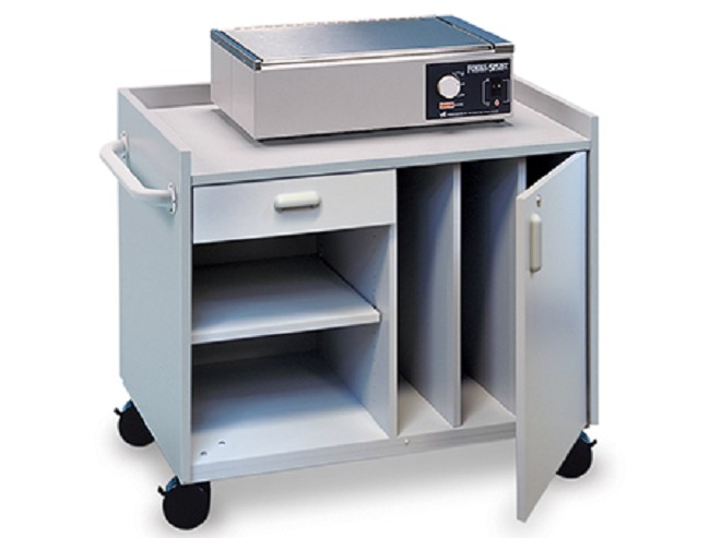 Hausmann mobile cabinet for splinting supplies for Hausmann mobel