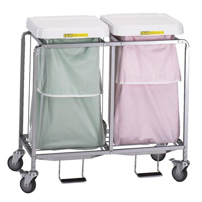 Double Leakproof Laundry Hamper With Foot Pedal