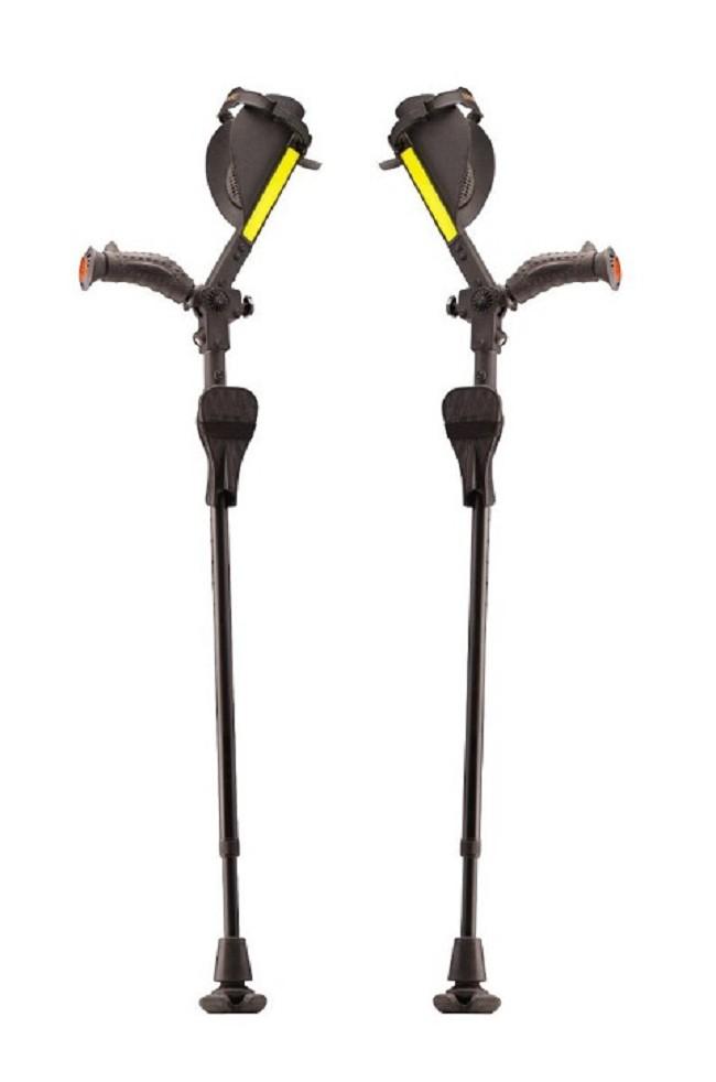 Ergobaum Royal Ergonomic Pain Reducing Forearm Crutches Pair