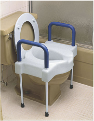Extra-Wide Tall-Ette Elevated Toilet Seat with Legs