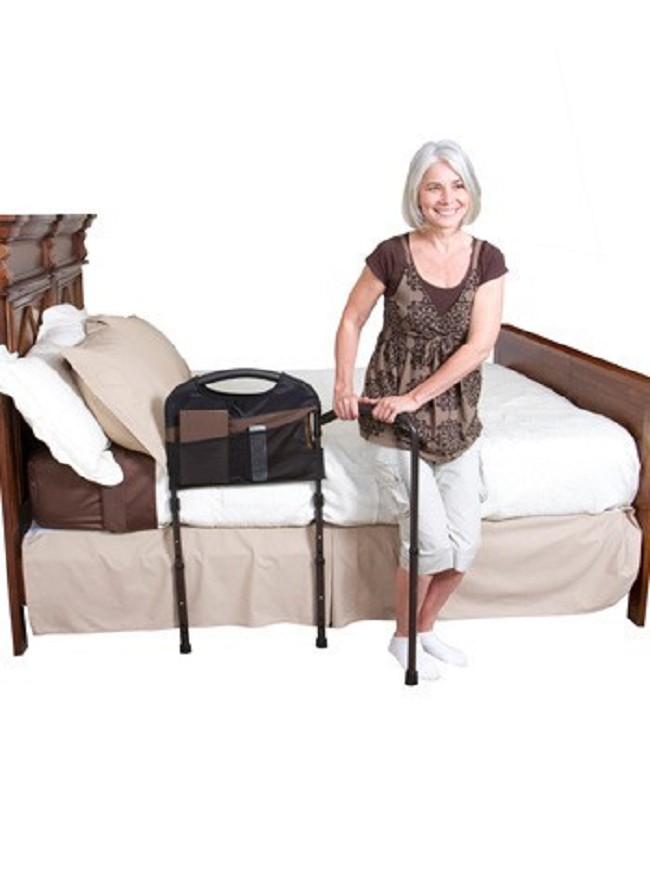 Adjustable Bed Base >> Mobility Bed Rail with Swing Away Stability Arm