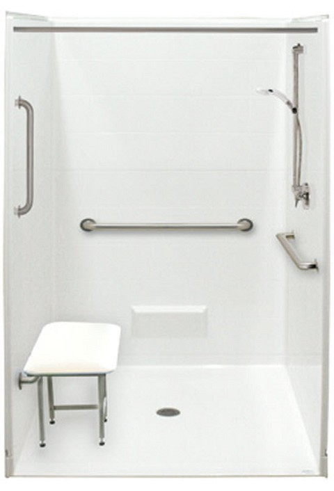 Accessible shower bathtub replacement wheelchair accessible bathroom for Bathroom shower stall replacement