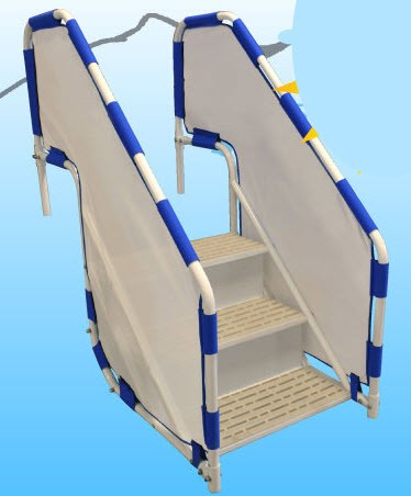 Pool ladders pool steps above ground pool ladders on sale inground pool steps - Above ground pool steps for handicap ...