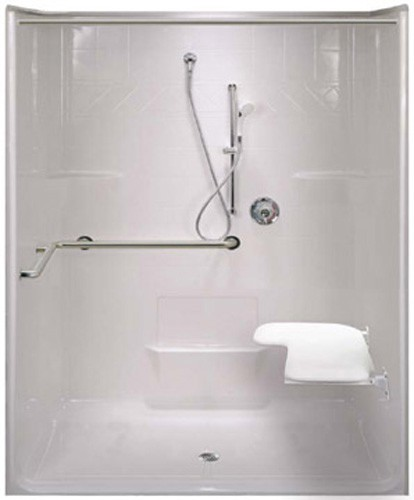Roll In Ada Shower Stall Wheelchair Accessible Bathroom