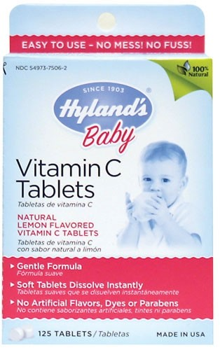 Hyland S Vitamin C Tablets For Baby Homeopathic Remedies