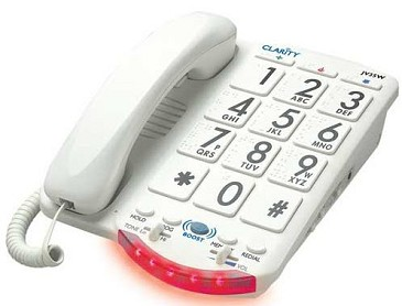 Clarity JV35W/50 Amplified Corded Talking Telephone with Braille