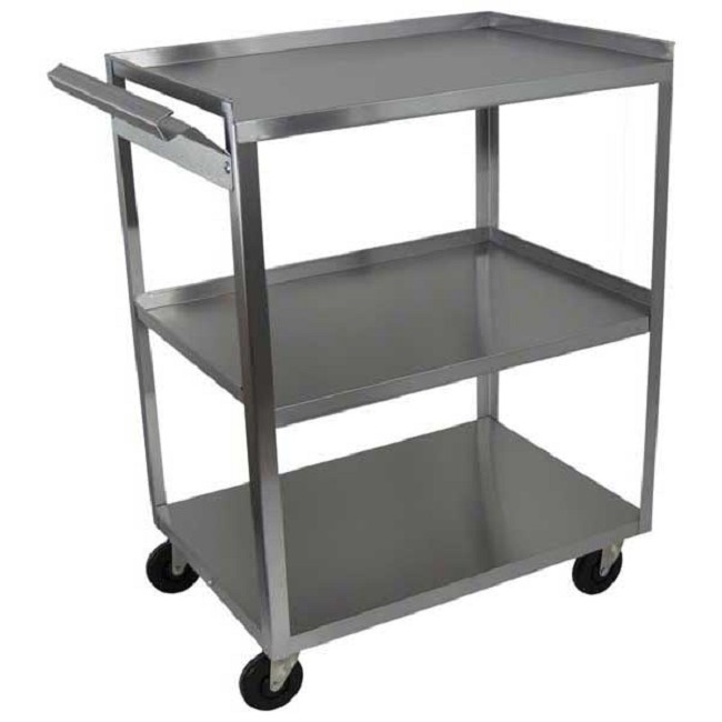 3 Shelf Stainless Steel Utility Cart Free Shipping
