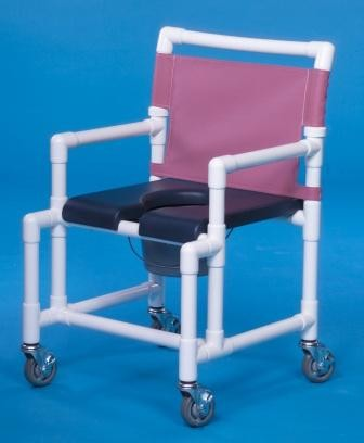 Deluxe Open Front Soft Seat Midsize Shower Chair Commode. Shower Commode Chair   Special Needs Bathroom   Shower Wheelchair