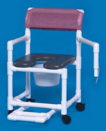 Open Front Soft Seat Shower Commode Chair with Swing Arm. Shower Commode Chair   Special Needs Bathroom   Shower Wheelchair