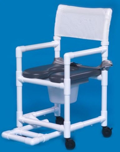 Soft Seat Shower Commode Chair with Safety Belt. Shower Commode Chair   Special Needs Bathroom   Shower Wheelchair