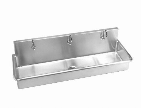 Wall Hung Stainless Steel Sink : Stainless Steel Wall Hung 60in. W Multi-Station Wash-Up Sink