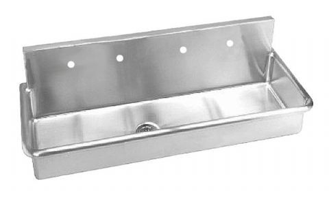 Stainless Steel Wall Hung Multi-Station Wash-Up Sink