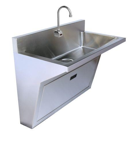 Wall Hung Stainless Steel Sink : Stainless Steel Single Station Surgeons Wall Hung Scrub Sink