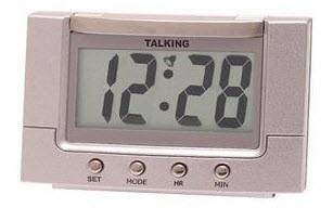 talking 4 alarm clock with el backlight. Black Bedroom Furniture Sets. Home Design Ideas