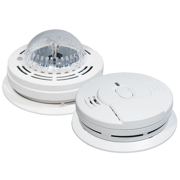Kidde Smoke Alarm With Strobe Light Hearing Impaired
