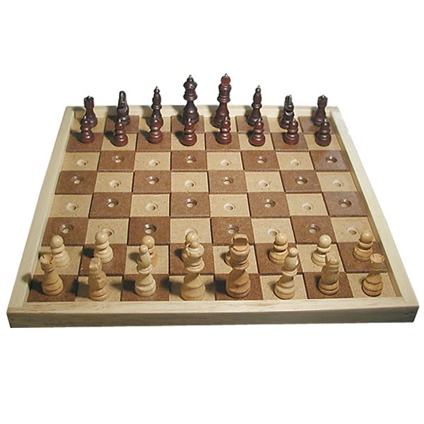 Low vision deluxe chess and checkers set board games - Deluxe chess sets ...