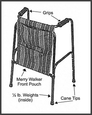Replacement Parts for Merry Therapeutic Walker
