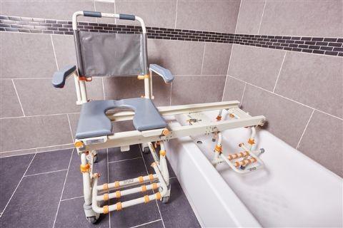 Deluxe All Purpose Tilt In Space Shower Transfer Chair