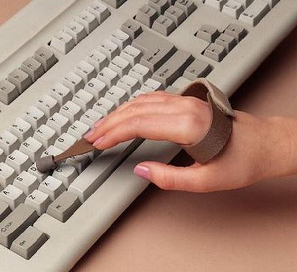 Slip-On Typing/Keyboard Aid