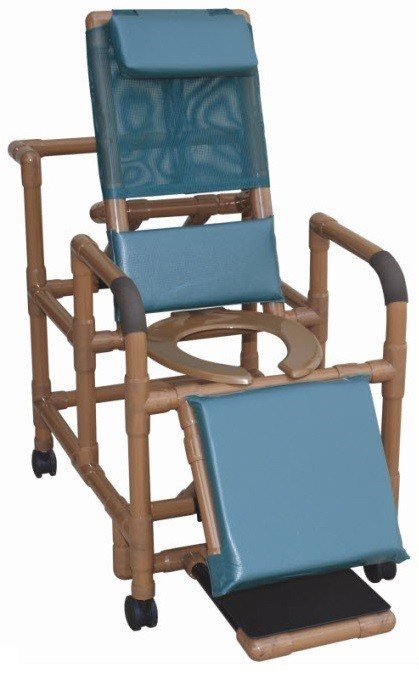 Wood tone reclining shower chair shower chairs